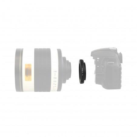 Bague adaptatrice monture T2 pour reflexs Canon EOS ou Nikon