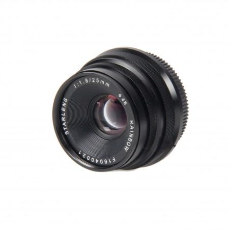 Objectif avec mise au point manuelle 25 mm F1.8