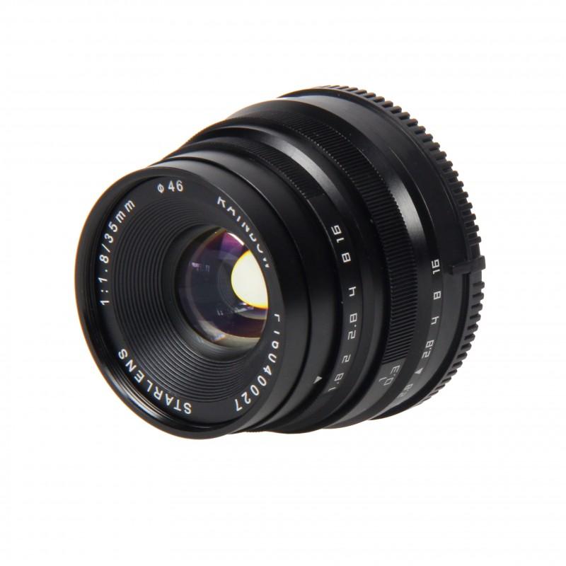 Objectif avec mise au point manuelle 35 mm F1.8