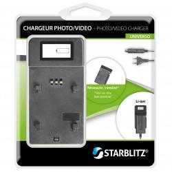 Chargeur de batteries photo dédié fonctionnant avec des plaques
