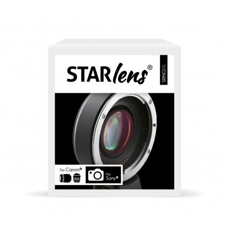 Réducteur de focale pour couple boîtiers Sony vers Optiques Canon EF