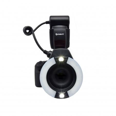 Macro Ring Flash para Canon ou Nikon 14 Número-guia