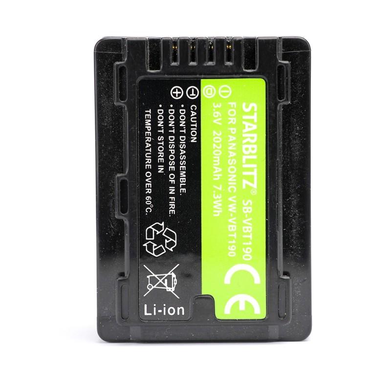 Bateria recarregável de iões de lítio compatível com Panasonic VW-VBT190