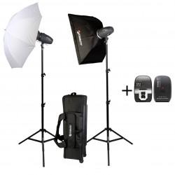 SHARK200KIT Kit studio 2x 200 watts seconde