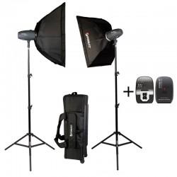 SHARK400KIT Studio Kit 2x 200 watts second