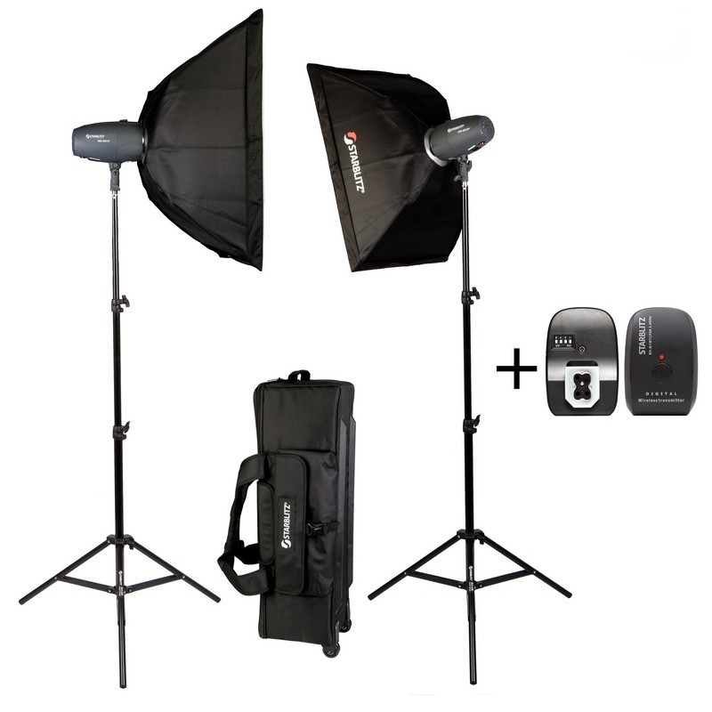 SHARK400KIT Kit studio 2x 400 watts seconde