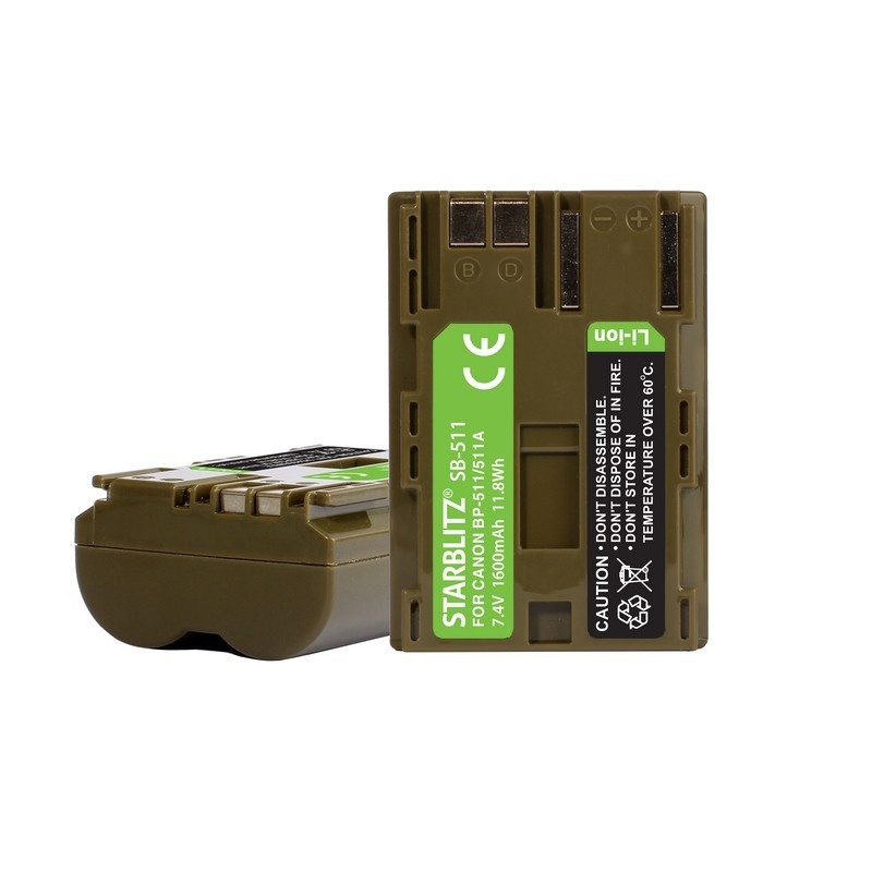 Compatible Canon BP 511 Batterie rechargeable Lithium-ion