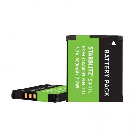 Bateria recarregável de iões de lítio compatível com Canon NB 11L 3.7v 600 mAh