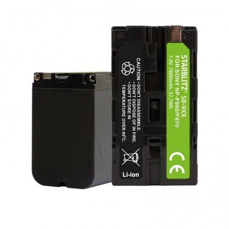 Bateria recarregável de iões de lítio compatível com Sony NP-F970 7.4v 7800mAh