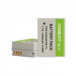 Bateria recarregável de iões de lítio compatível com Canon NB-7L