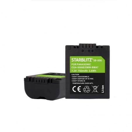 Bateria recargable de litio-ion equivalente PANASONIC CGA-S006E/DMW-BMA7 7.4v 750 mAh