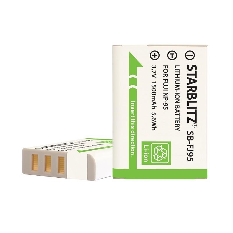 Bateria recarregável de iões de lítio compatível com Fujifilm NP 95 3.7v 1800mAh