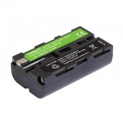 Bateria recarregável de iões de lítio compatível com Sony NP F550