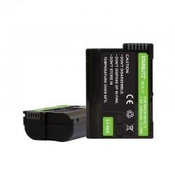 Bateria recarregável de iões de lítio compatível com Nikon EN-EL15 1600mAh