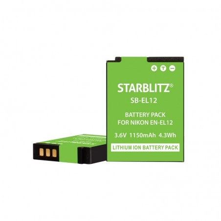 Batterie rechargeable compatible Nikon EN-EL12 Lithium-ion