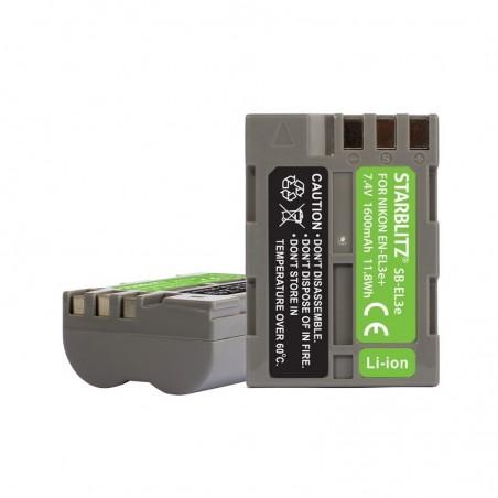 Bateria recarregável de iões de lítio compatível com Nikon EN-EL3e+ 7.4v 1600mAh