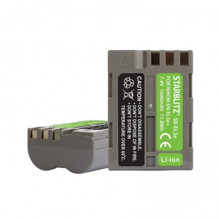 Rechargeable Lithium-ion Battery to replace Nikon EN-EL3e+