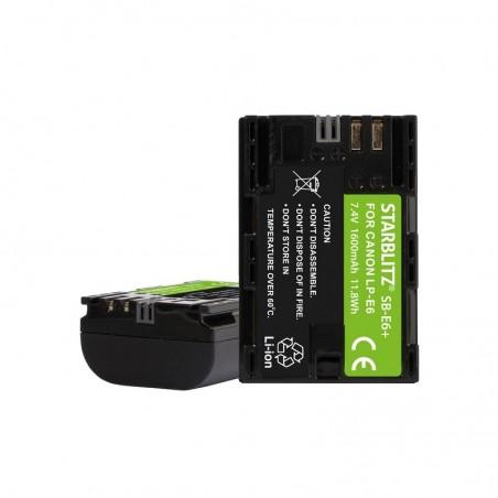 Bateria recarregável de iões de lítio compatível com Canon LP E6 7.4v 1600mAh