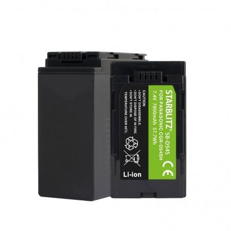 Bateria recarregável de iões de lítio compatível com Panasonic CGR-D54SH