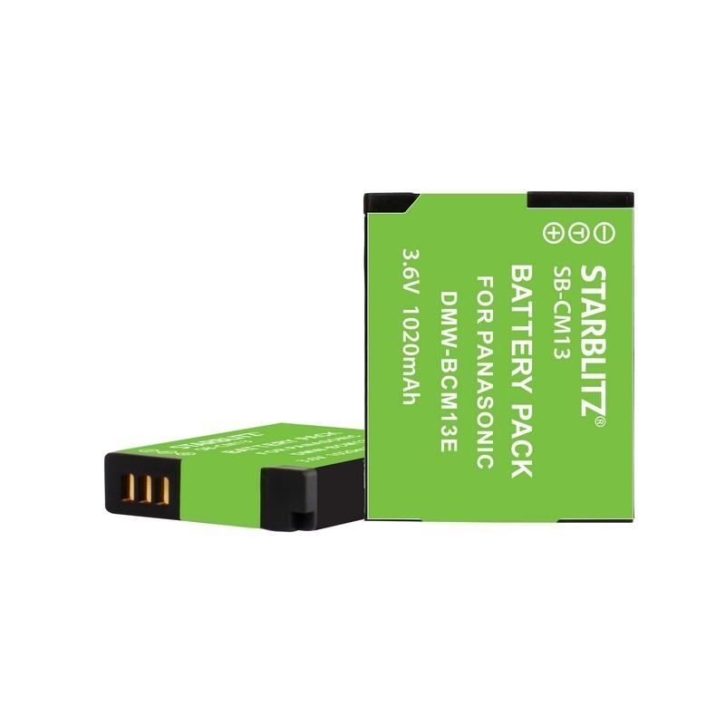 Bateria recargable de litio-ion equivalente Panasonic DMW-BCM13 3.6v 1020 mAh