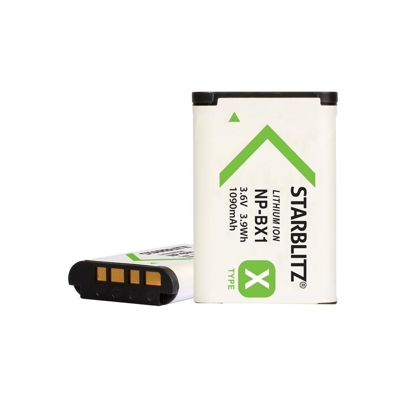 Bateria recarregável de iões de lítio compatível com Sony BX1