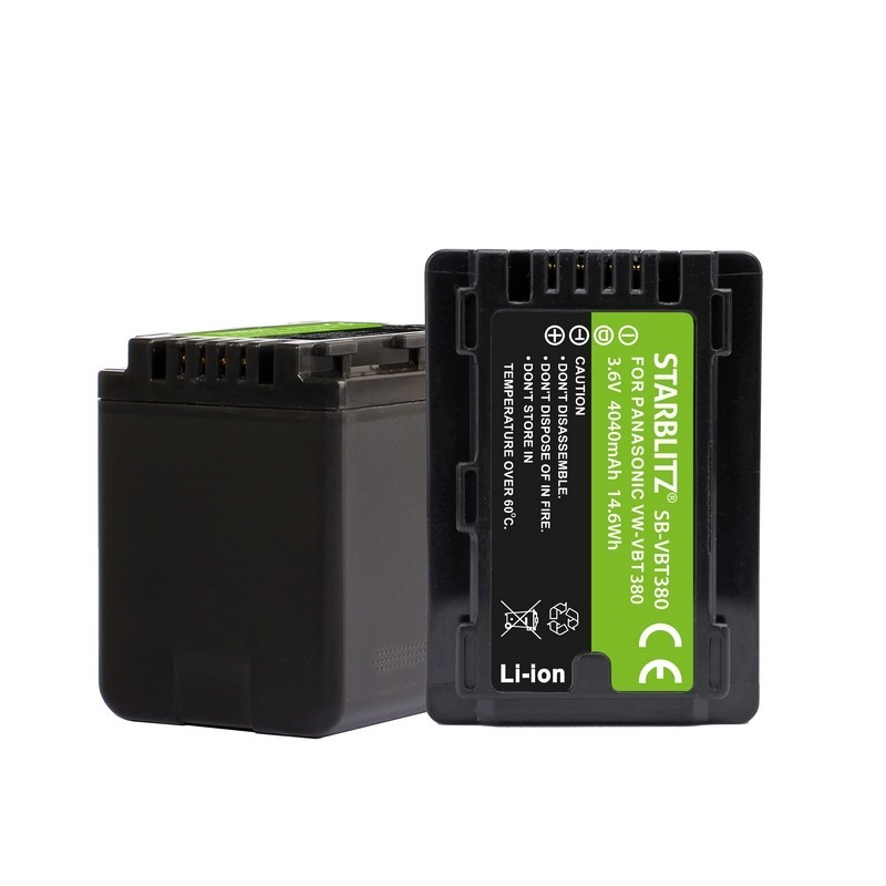 Batterie rechargeable compatible Panasonic VW-VBT380