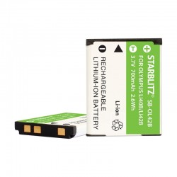 Bateria recargable de litio-ion equivalente Olympus LI 40B/42B 3.7v 740 mAh