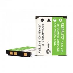 Bateria recarregável de iões de lítio compatível com Olympus LI 40B 42B 3.7v 740mAh