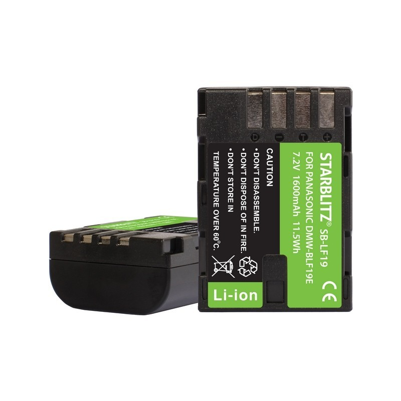 Bateria recargable de litio-ion equivalente Panasonic DMW-BLF19E 7.2v 2200mAh
