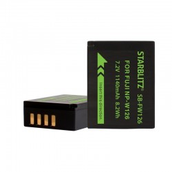 Rechargeable Lithium-ion Battery to replace Fuji NP W126 7.2v 1260mAh