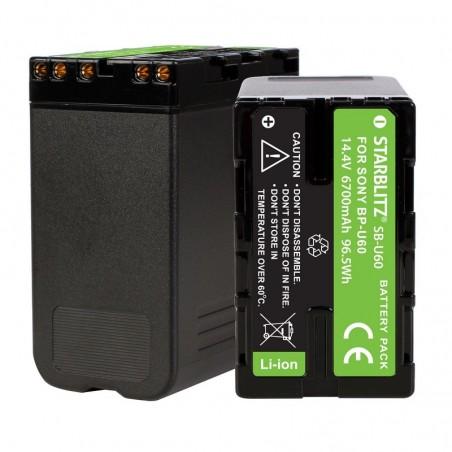 Bateria recarregável iões de lítio compatível com Sony BP U60