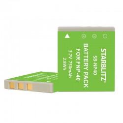 Bateria recarregável iões de lítio compatível com Fujifilm NP40