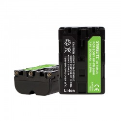 Bateria recarregável iões de lítio compatível com Sony NP-FM500
