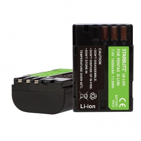 Bateria recarregável iões de lítio compatível com Pentax LI90