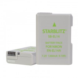 Rechargeable Lithium-ion Battery to replace Nikon EN-EL14+ 7.4v 1050mAh