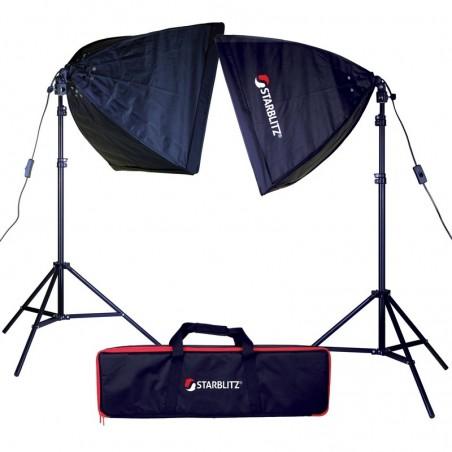 Kit de iluminação contínua foto e vídeo