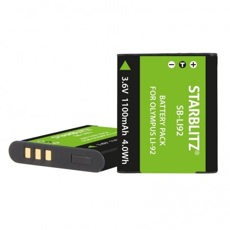 Compatible rechargeable battery compatible Olympus LI92