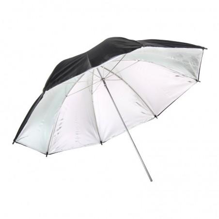 Paraguas de plata 90cm de diámetro