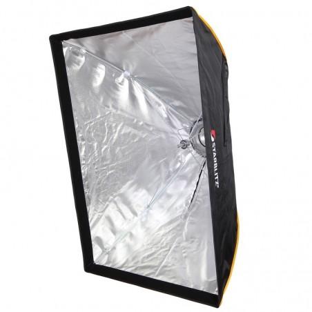 Caixa de luz retangular montagem rápida 70x100cm com adaptador Bowens
