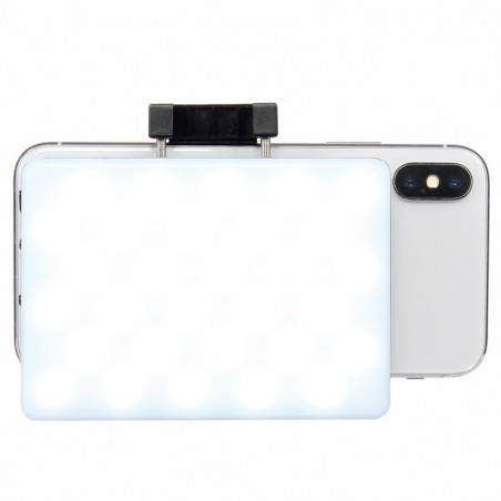 60 LED light panel compatible with smartphone and camera