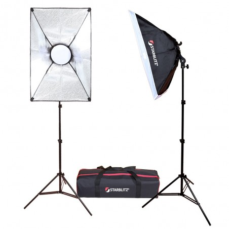 Complete LED continuous lighting kit for vloggers