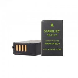 Bateria recarregável de iões de lítio compatível com Nikon EN EL20 3.7v 1020mAh