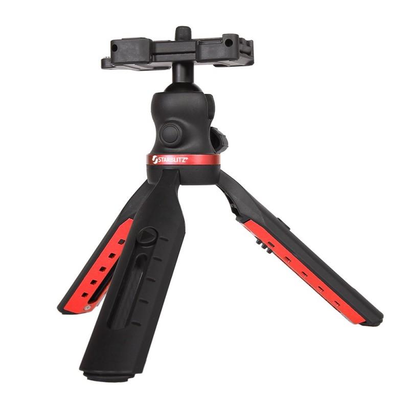 Mini Trépied pour appareils photo et smartphones 5 positions Pan 360 Tilt -90 degrés
