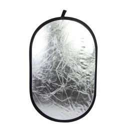 Panneau reflecteur ovale 71x112cm Argent et Or