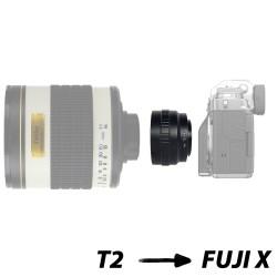 Bague d'adaptation pour optiques T et boîtiers Fuji X