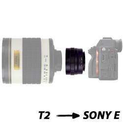 Bague d'adaptation pour optiques T et boîtiers Sony E