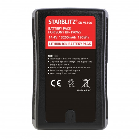 Batterie Monture V avec sortie USB et D-TAP 190 Wh