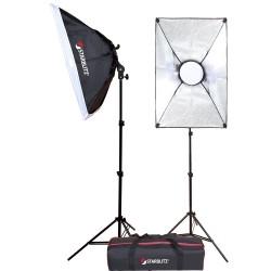 Kit completo de iluminação LED autónoma para Vlogeurs 2x50W
