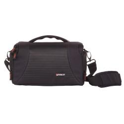 Shoulder bag with hydrophobic fabric for hybrid or DSLR cameras WIZZ15