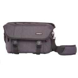 Grey shoulder bag with insert for mirrorless ABERDEEN20